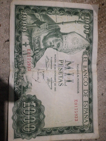 Billete 1000 Pesetas Antiguo