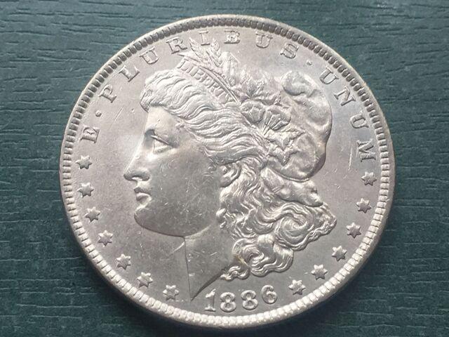 Dolar Morgan Plata 1886