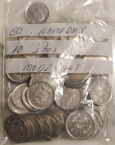 50 Monedas 10 Pesetas Modernas.