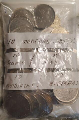 40 Monedas 25 Pesetas.