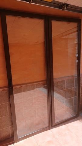Puertas Co Aluminio + Premarco Chocolate