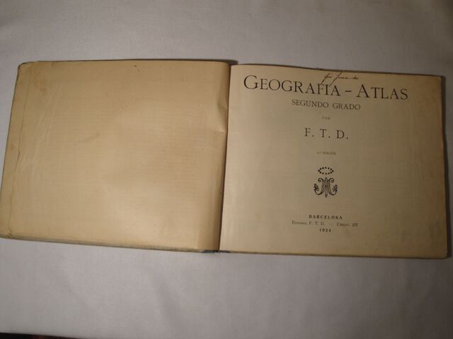 GEOGRAFÍA Y ATLAS. SEGUNDO GRADO. AÑO 1924 - foto 3