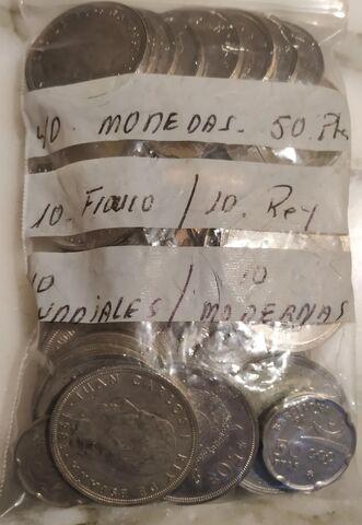 40 Monedas 50 Pesetas.