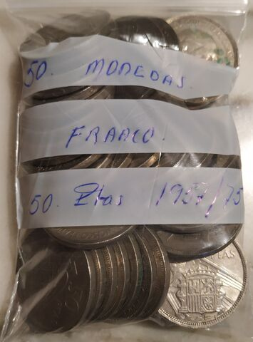 50 Monedas 50 Pesetas Franco, 1957/75