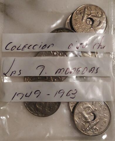 Colección 0.50 Céntimos, 9 Monedas. 1949