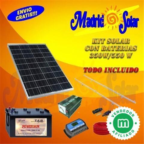 Kit Solar Básico Luces Y Televisión