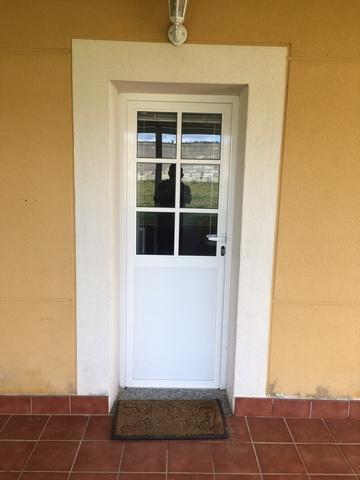 Puerta Aluminio Blanca