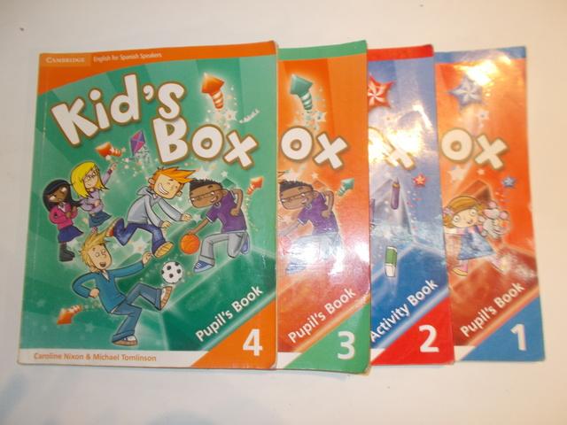 LOTE 4 LIBROS KID\\\\\\\'S BOX 1,  2,  3 Y - foto 1