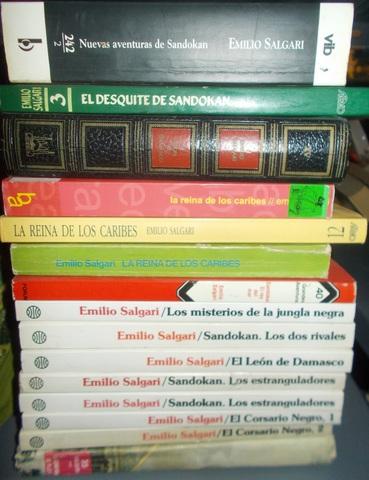 LOTE 5 LIBROS DE AVENTURAS SALGARI - foto 1