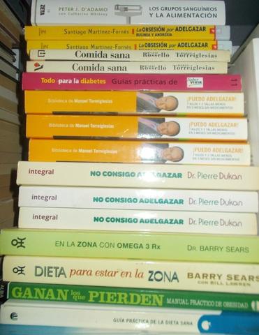 LOTE 5 LIBROS DE DIETAS,  NUTRICIÓN,  PESO - foto 1