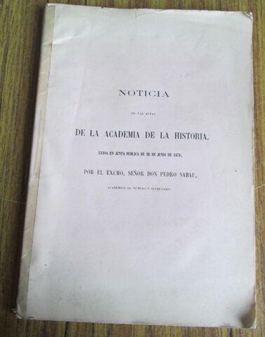 NOTICIAS - LEÍDAS 1870 POR PEDRO SABAU - foto 1