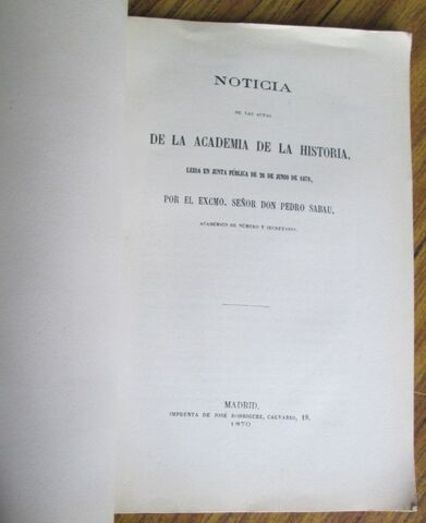 NOTICIAS - LEÍDAS 1870 POR PEDRO SABAU - foto 3