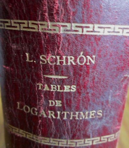 TABLE DE LOGARITHIMES PARIS 1888 - foto 2
