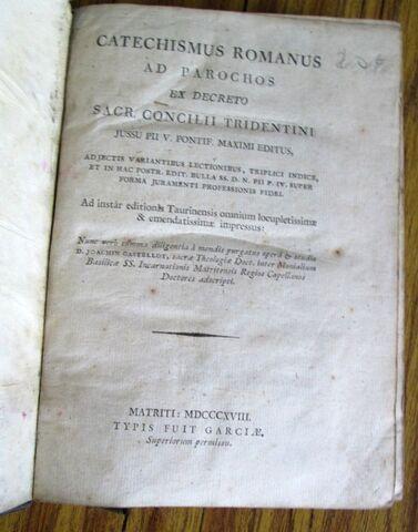 CATECHISMUS ROMANUS - AD PARACHOS 1818 - foto 4