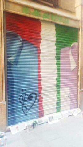 GRAFFITI EN PERSIANAS Y EXTERIORES - foto 5