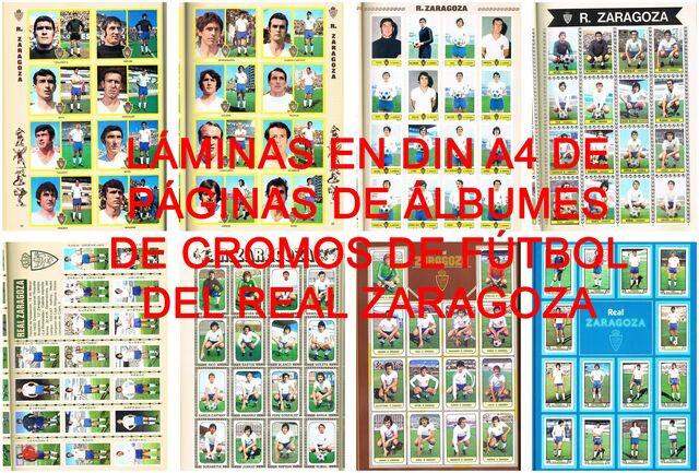 Láminas Álbumes Cromos Del Real Zaragoza
