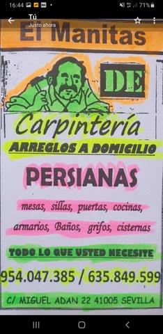 CARPINTEROS A DOMICILIO EL MANITAS - foto 1