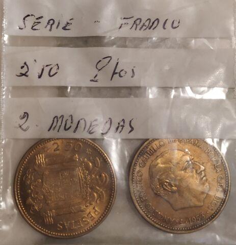 2 Monedas De  2,50 Pesetas 1954 1956.
