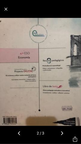 LIBRO DE ECONOMÍA.  4ºESO.  - foto 2