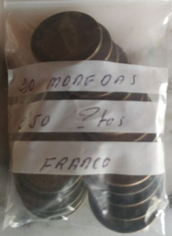 20 Monedas De 2,50 Pesetas Franco.