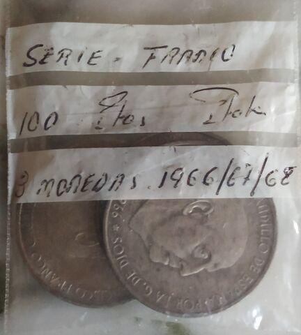 Serie Franco 3 Monedas Plata.