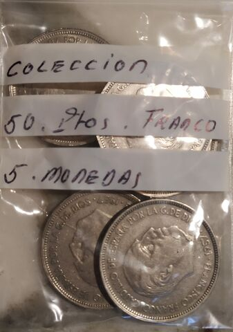 Colección Franco 5 Monedas 50 Pesetas