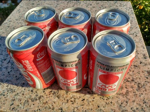 Pack 6 Latas Coca-Cola Año 92