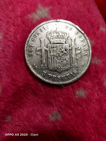 Moneda De Plata Alfonso Xiii De 1977