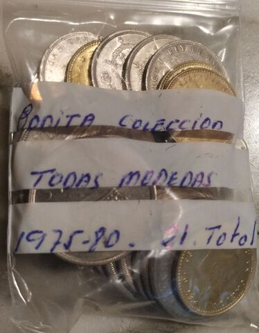 Bonita Colección 21 Monedas 1975 1980.