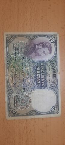 50 Pesetas De 1931
