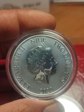 Moneda 1 Onza Plata Rey León Ii Disney