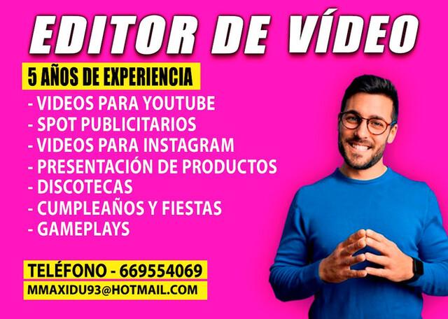 EDITOR DE VÍDEO - SEVILLA - foto 1