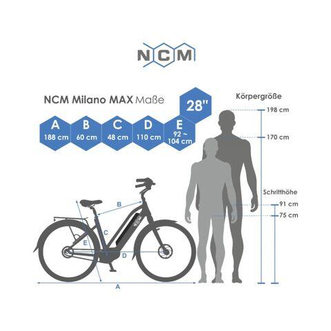 BICICLETA E-TREKKING NCM MILANO MAX N8R - foto 9