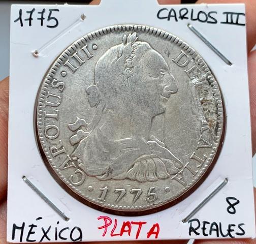8 Reales Plata 1775 Mexico Carlos Iii