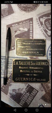 Placas Antiguas De Guernica T De G