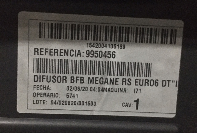 DIFUSOR RENAULT MEGANE IV - foto 2