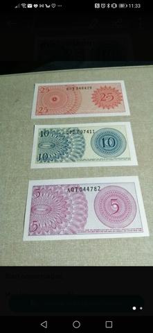 Lote De 3 Billetes Y 5 Monedas Indonesia