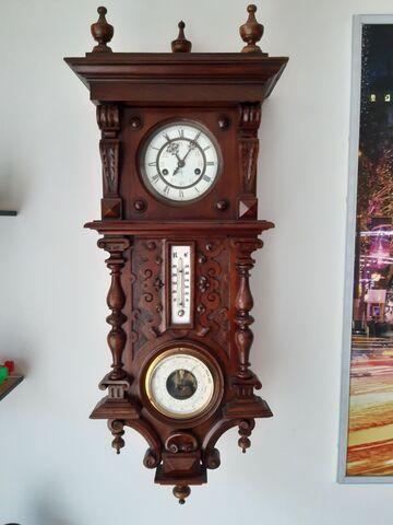Reloj Antiguo Con Barómetro Y Termómetro