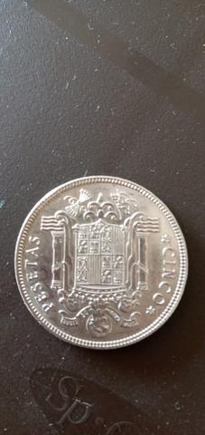 Vendo Moneda De 5 Pesetas De 1949