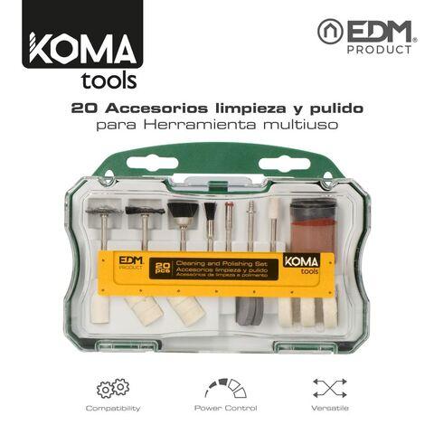Set 20 Accesorios Koma Tools