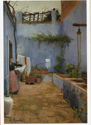 Postal Museo De Montserrat Santiago Rusi