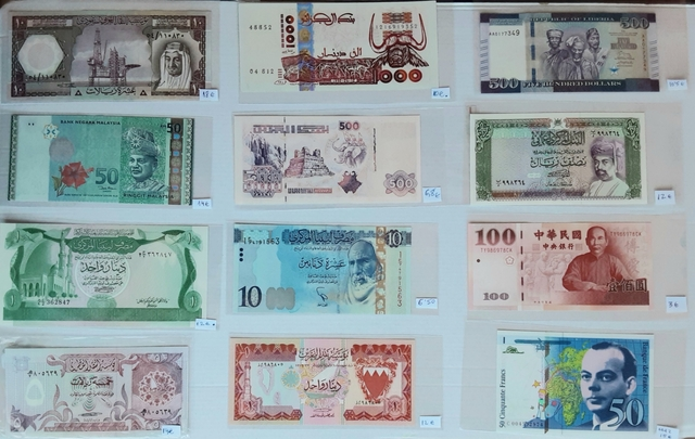 Billetes Extranjeros Gama Alta. Varios T