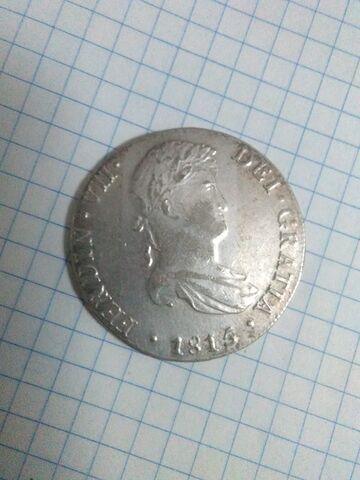 Moneda De  España De Plata Del 1815