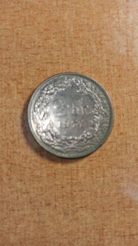Moneda 2 Francos Suiza 1974 Helvetia