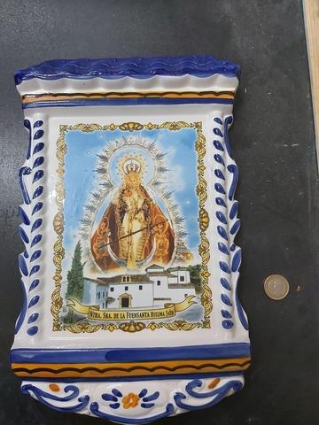 Lote De Ceramica Virgen Fuensanta Huelma