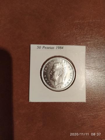 Moneda 50 Pesetas 1984 .