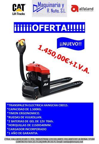 TRANSPALETA ELECTRICA HC 1. 500KG - foto 1