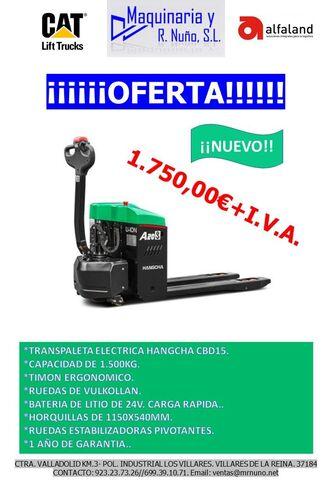 TRANSPALETA ELECTRICA HC 1. 500KG LITIO - foto 1