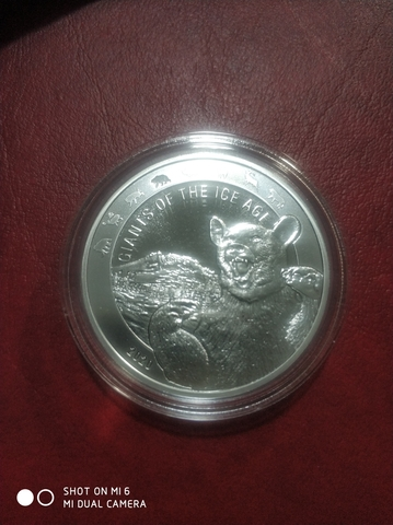 Moneda 1 Onza Plata Gigantes Edad Hielo