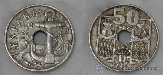Vendo Moneda 50 Centimos 1949
